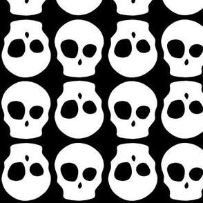 Flipped cute skull no outline