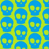Large vibrant skulls