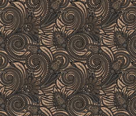 Bouncy Paisley - Pearly skin fabric by pierre_ceriano on Spoonflower - custom fabric