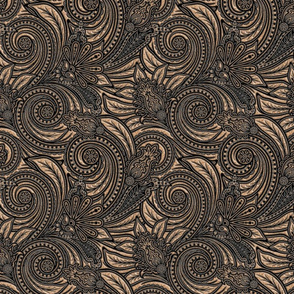 Bouncy Paisley - Pearly skin