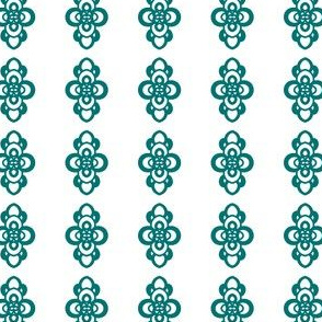 Project 258 | Green Filigree on White