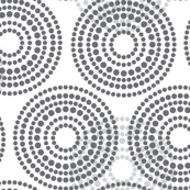 Geometric Gray Circle Dots_Miss Chiff designs