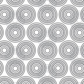 Geometric Gray Grey Circle Dots Spots Modern Cloud Sky Low Volume _ Miss Chiff designs