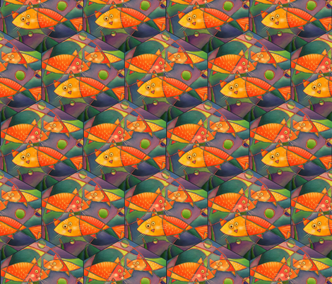 Catfish fabric by lindiart on Spoonflower - custom fabric