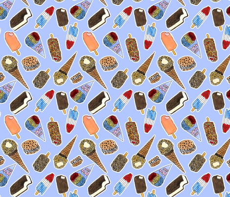 Ice Cream Truck Treats fabric by eileenmckenna on Spoonflower - custom fabric
