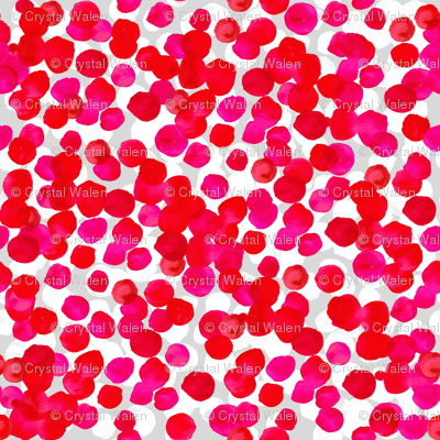 Watercolor Dots Pink Red