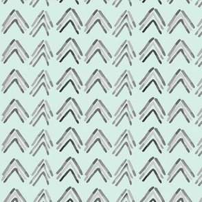 Water color chevron on Mint_Miss Chiff Designs