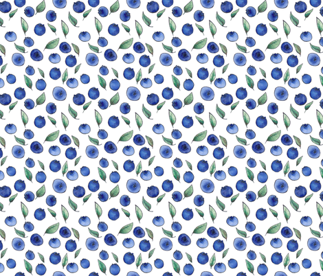blueberries fabric by mamanourse on Spoonflower - custom fabric