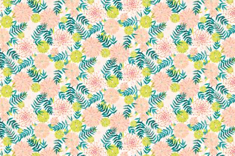 Dahlia Palm Print fabric by emily_raffensperger on Spoonflower - custom fabric