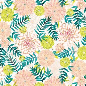 Dahlia Palm Print