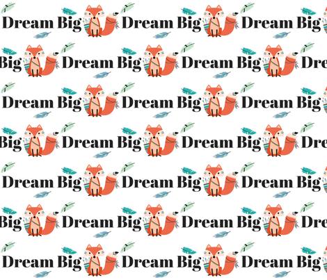 dream big typography fabric by buckwoodsdesignco on Spoonflower - custom fabric