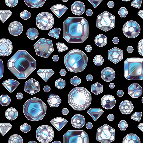 Diamonds fabric by jadegordon on Spoonflower - custom fabric
