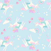 mermaid and unicorn pastel