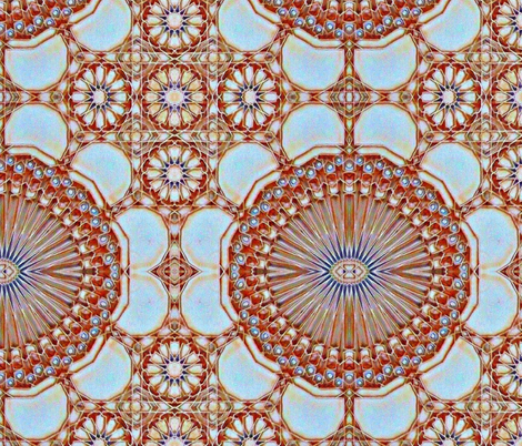 Moroccan Tile Mandala-ed fabric by bjdk on Spoonflower - custom fabric