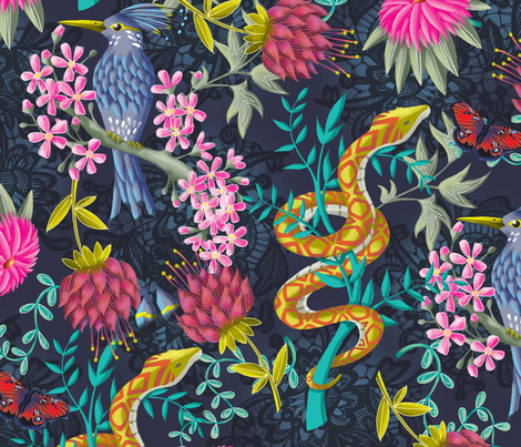 Life Exotic fabric by ruthburrows on Spoonflower - custom fabric
