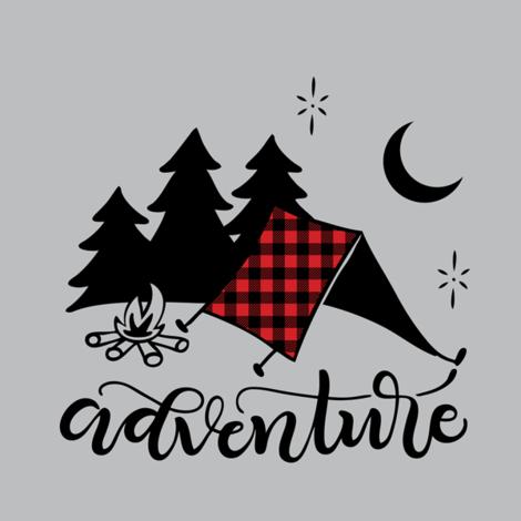 "8"" Quilt block - Camping adventure fabric by howjoyful on Spoonflower - custom fabric"
