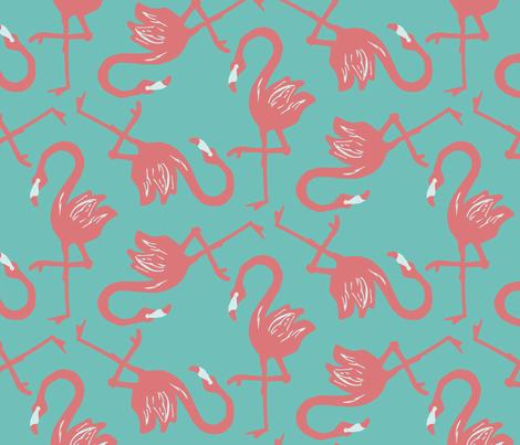 Flamingos! fabric by erinkristin on Spoonflower - custom fabric