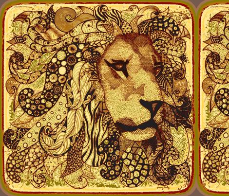 "Lion 18""x18"" fabric by jenny_healy on Spoonflower - custom fabric"