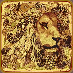 """Lion 18""""x18"""""""