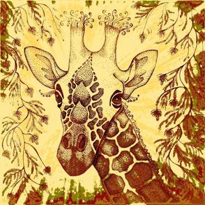 "Giraffe 18""x18"""