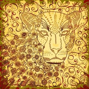 """leopard 18""""x18"""""""