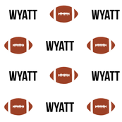 personalized custom football name fabric for boys boy fabric