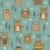 Winter Bears Jade