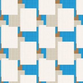 Mid-Century Blocks in Blues Browns_Miss Chiff Designs