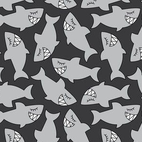 sharks-on-black