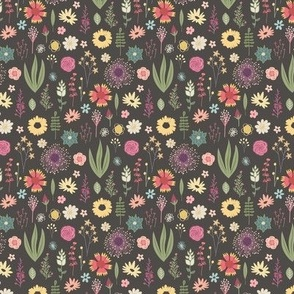 Flora & Fauna - Calico - Small Pattern