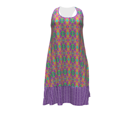 Ditsy Tribal Drum Stripe Purple