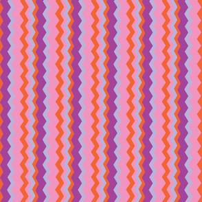 Carmine Zig Zag Purple Pink Orange Gray