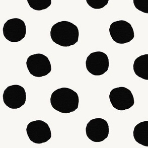 Watercolor dots - large dots monochrome circus clown dots black and white