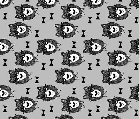 bowtie bear // grey fabric baby nursery design fabrics bowtie bear fabric by andrea lauren  fabric by andrea_lauren on Spoonflower - custom fabric