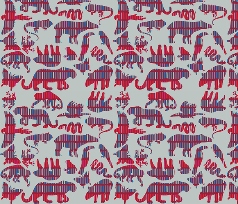 rainforest animals [with mola] fabric by kheckart on Spoonflower - custom fabric
