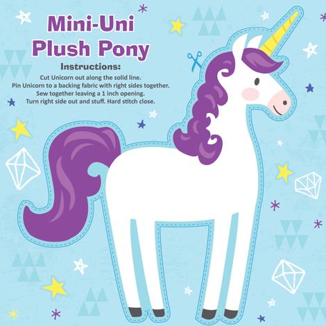 Mini-Unicorn Plush Pony Kit - Purple fabric by tiffanyillustrator on Spoonflower - custom fabric