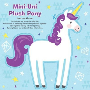 Mini-Unicorn Plush Pony Kit - Purple
