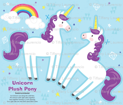 Unicorn Plush Pony Kit - Purple