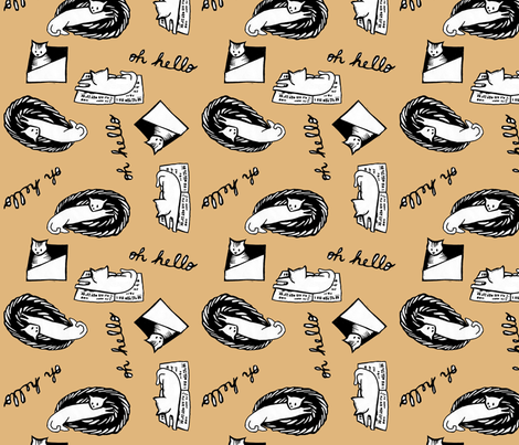 Oh Hello Cats fabric by shannon_buck on Spoonflower - custom fabric