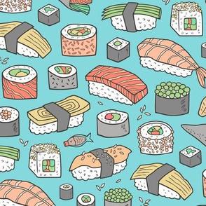 Sushi on Blue