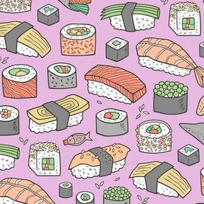 Sushi on Purple Purpel