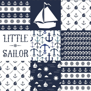 Little Sailor Patchwork Quilt Top