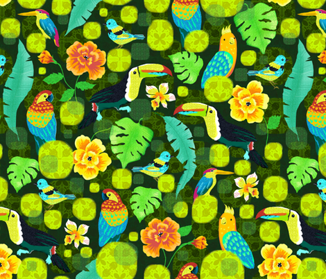 tropical-spirits fabric by gaiamarfurt on Spoonflower - custom fabric
