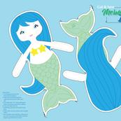 Blue Hair Mermaid Dolly