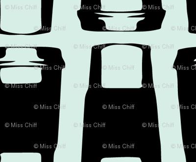 Coffee Latte on Mint_Miss Chiff Designs