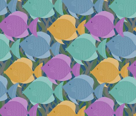 Fish fabric by mgdoodlestudio on Spoonflower - custom fabric