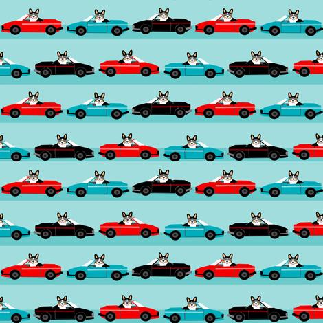 corgi sports car fabric funny corgi fabric fabric by petfriendly on Spoonflower - custom fabric