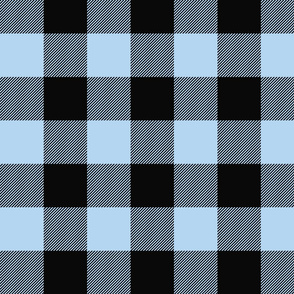 Big Buffalo Plaid -  blue and black