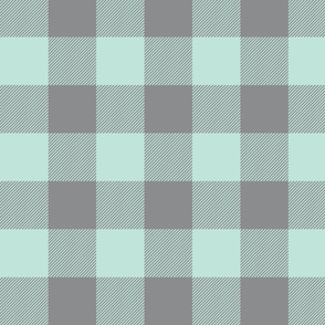 Big Buffalo Plaid - grey/mint