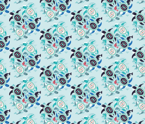Aquatic_ocean_spirit fabric by melluciani on Spoonflower - custom fabric